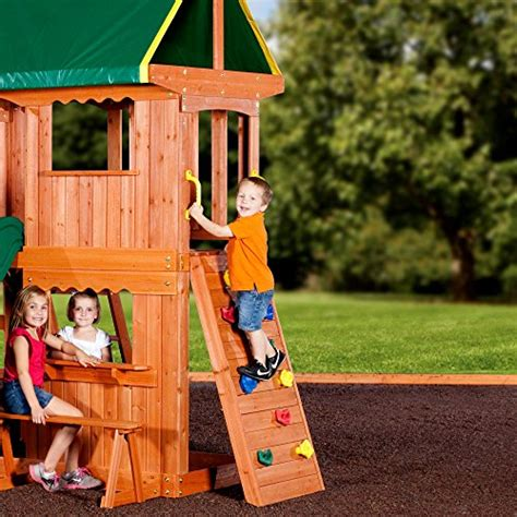 backyard discovery somerset wood swing set backyard discovery somerset all cedar wood playset swing set
