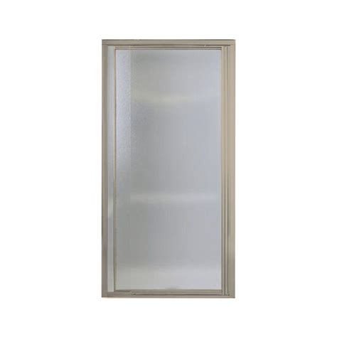 glass pivot bathtub doors delta panache 31 1 2 in x 66 in pivot shower door in