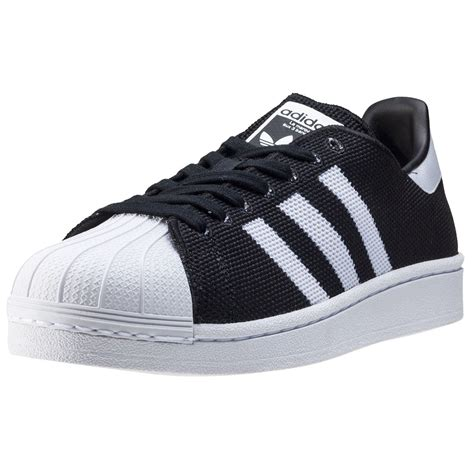 New Adidas Made In Black White adidas superstar mens trainers in black white