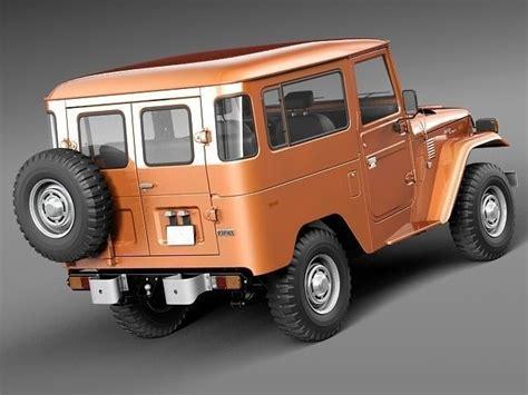 1960 Toyota Land Cruiser Toyota Land Cruiser Fj40 1960 1984 3d Model Max Obj 3ds