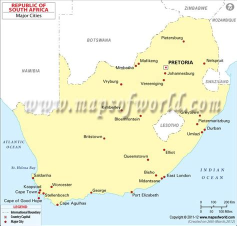 south africa map with cities south africa cities map maps