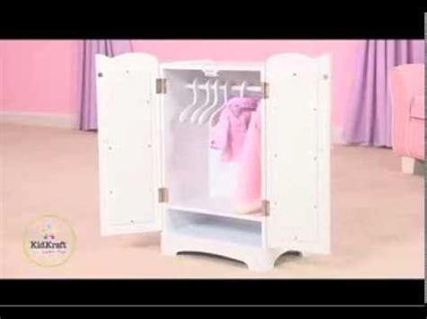 kidkraft doll armoire kidkraft lil doll armoire poppenkleerkast 60132 youtube