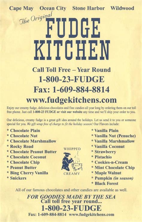 A Kitchen Island the original fudge kitchen 800 boardwalk ocean city new