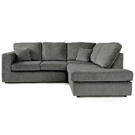 Asda Corner Sofa by Taunton Left Corner In Charcoal Sofas