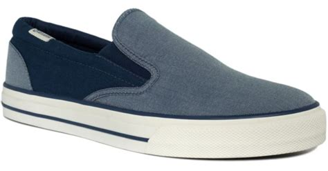 Jual Converse Skid Grip converse skid grip slip on sneakers in blue for lyst