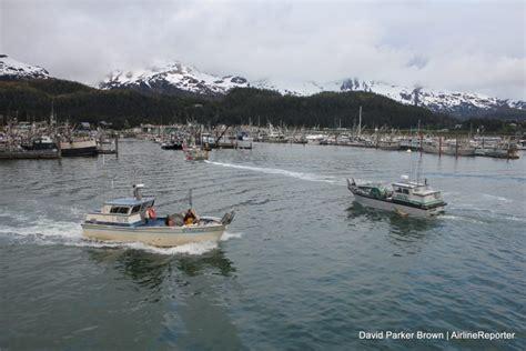 alaska river fishing boat milk run in an alaska airlines 737 400 combi for salmon