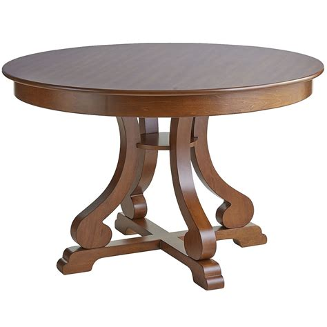 Marchella Pecan Brown Round Dining Table Pier 1 Imports How Should A Dining Table Be