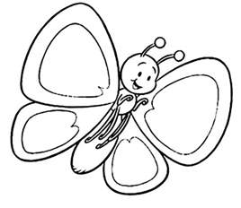 coloring pages for kids butterflyfree coloring pages for
