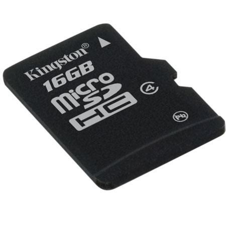 Kingston Microsdhc High Capacity Micro Secure Digital Card 16gb upc 740617173765 kingston technology 16gb microsdhc class 4 high capacity micro secure