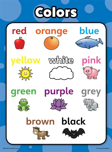 toddler learning poster kit set of 9 educational wall
