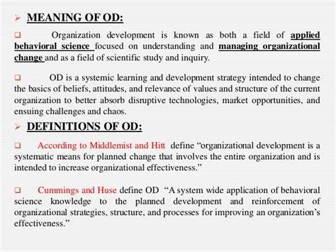 Mba Organizational Development by Organization Development