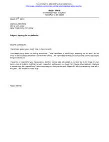 Exle Of Apology Letter To Lecturer Formal Letter To Formal Letter Template