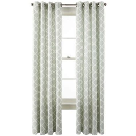 Kitchen Curtains At Jcpenney Jcp Home Collection Jcpenney Home Nolan Grommet Top Cotton Curtain Pa