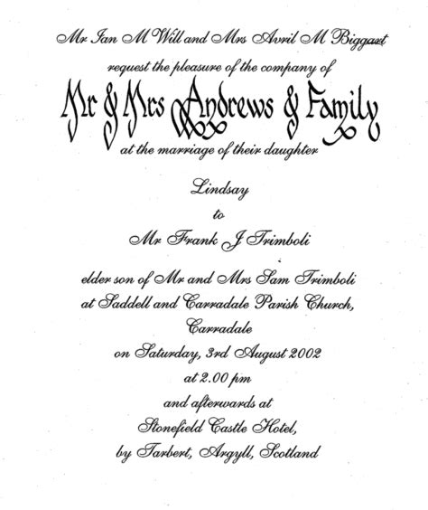 free card calligraphy template wedding invitations