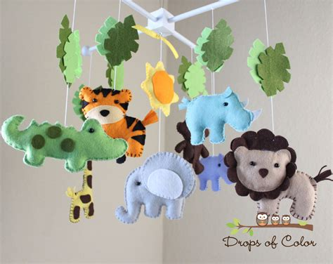 Safari Baby Mobile Animals Baby Crib Mobile Neutral Girl Mobiles For Baby Cribs