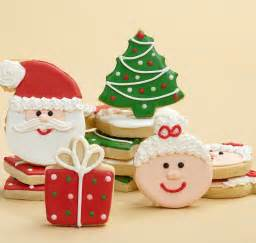 Hand decorated christmas cookies