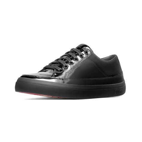sneaker for fitflop black patent sneaker