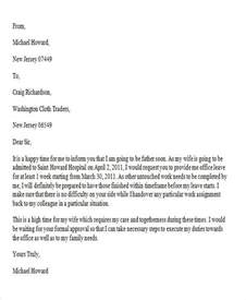 Official Letter Application 38 Leave Letter Sles