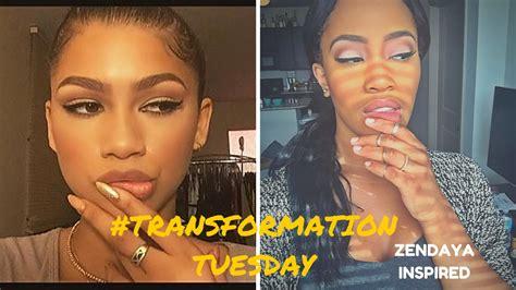 transformation tuesdays natural hair bride youtube transformation tuesday zendaya inspired makeup look l