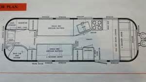 airstream floor plans 1964 26 overlander airstream floorplan cer
