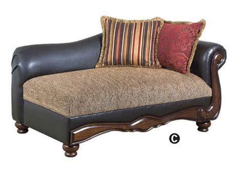 Faux Leather Chaise Lounge olyssues faux leather brown fabric traditional chaise lounge
