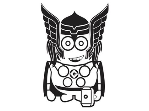 iron man minion coloring page thor minion vinyl decal kid ml5 20 via etsy