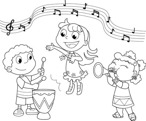 music coloring pages free printable coloring home
