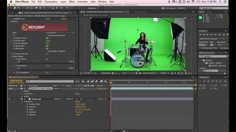 tutorial after effect green screen how to key out green screen in adobe after effects using
