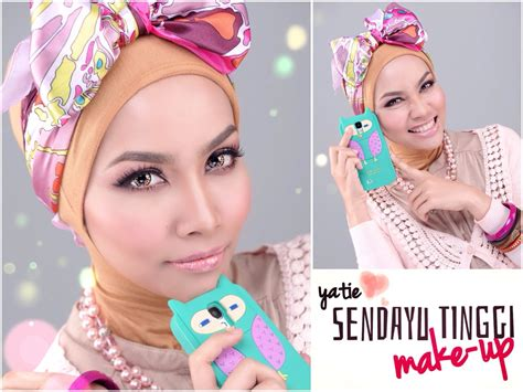 tutorial makeup yatie sendayu tinggi simple smokey pink eyeshadow dewy skin sendayu tinggi