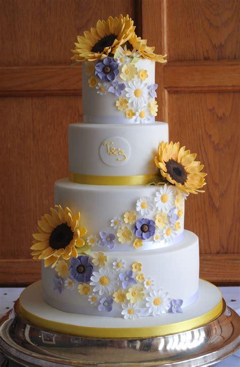 Sunflowers wedding cake from www.tortebella.co.uk   Cakes