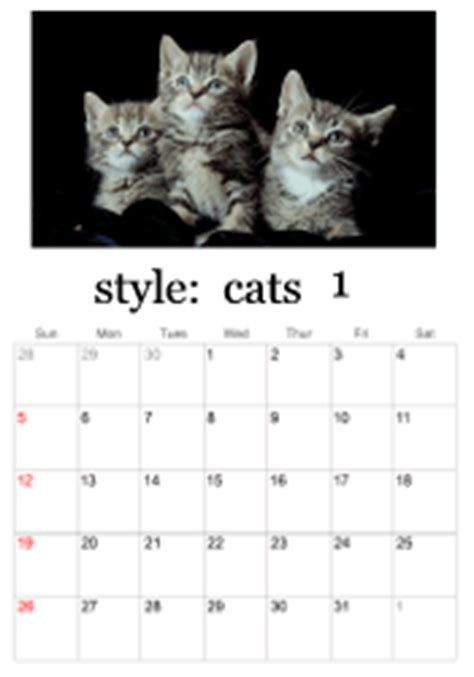 printable kitten calendar free pritable 2015 calendars with cats autos post