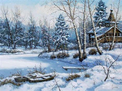 Peinture Blanc Neige by Paysages De Neige En Peinture
