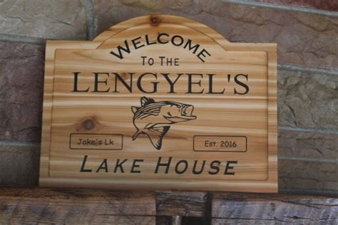 Personalized Wood Signs Home Decor Custom Wood Signs Name Personalized Gift Fishing Cabin Lake Home Decor Carved Ebay