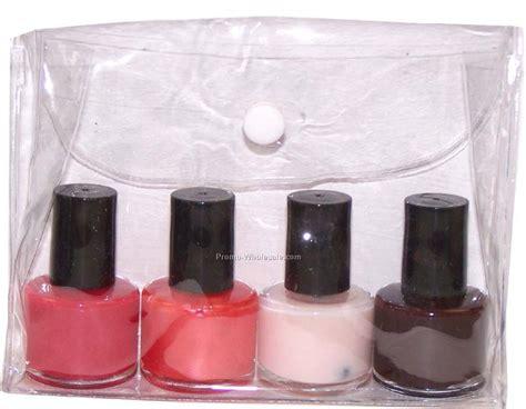 Nail Mini Promo set of 2 nail bottles with 1 lip gloss in organza
