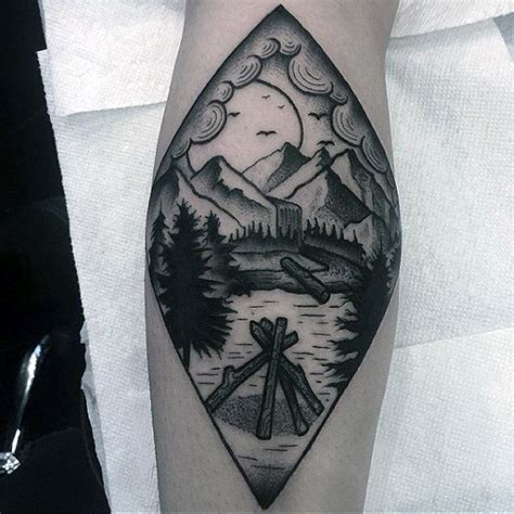 simple man tattoo waterfall design pictures to pin on