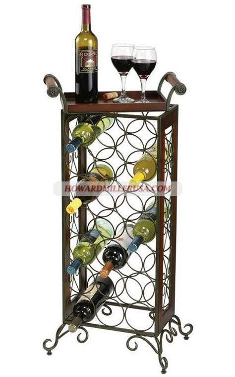 Metal Floor Standing Wine Racks by 655147 Howard Miller Wooden Wine Rack This Wrought Iron