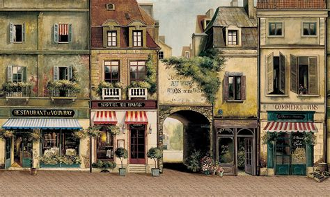 Victorian Wall Murals old french city street ue4 polycount
