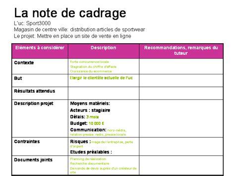 Lettre De Cadrage Budgétaire Entreprise Pduc La Note De Cadrage