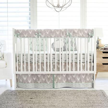 deer nursery bedding gray deer crib bedding woodland baby bedding deer baby