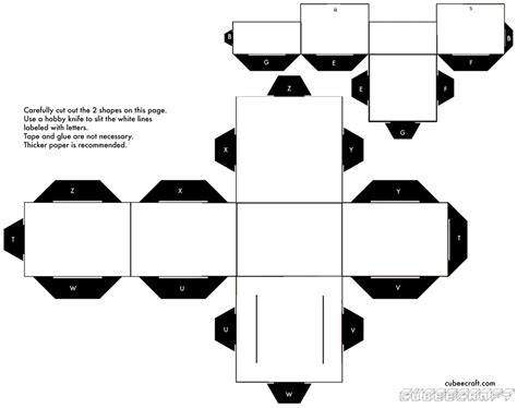 Black And White Papercraft - best photos of blank papercraft template minecraft