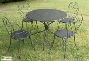 Good Carrefour Table Et Chaise De Jardin #3: Fauteuils-metal-empilables-tradition-gris.jpg