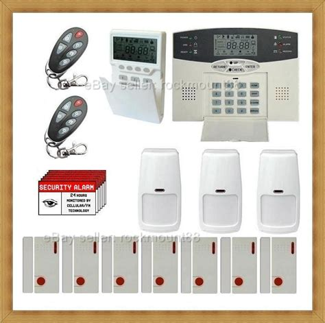 voice wireless lcd home security system