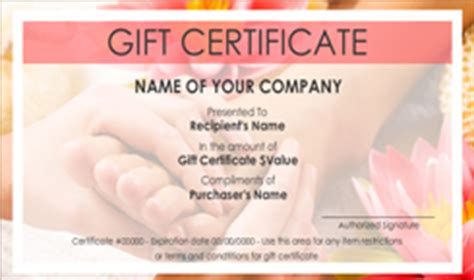 nail salon gift certificate template beauty and nail salon gift certificate templates easy to use gift certificates