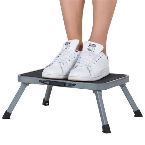 Non Skid Step Stool by Ollieroo Ladder Portable Lightweight Folding Steel Step