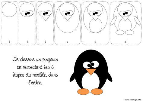 Coloriage Comment Dessiner Un Pingouin Dessin Coloriage De Pingouin Pour Colorier L