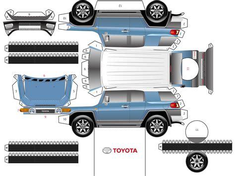 Toyota Papercraft - toyota fj cruiser paper cruisers toyota fj