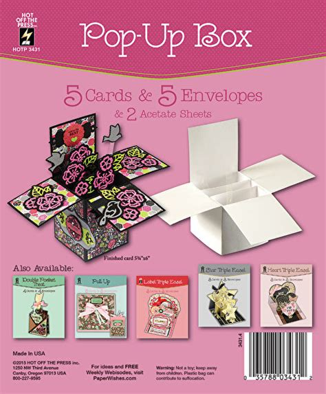 Pop Up Box Die Cut Cards Envelopes Folded Greeting Paper Craft Blank Templates Ebay Pop Up Die Cut Templates