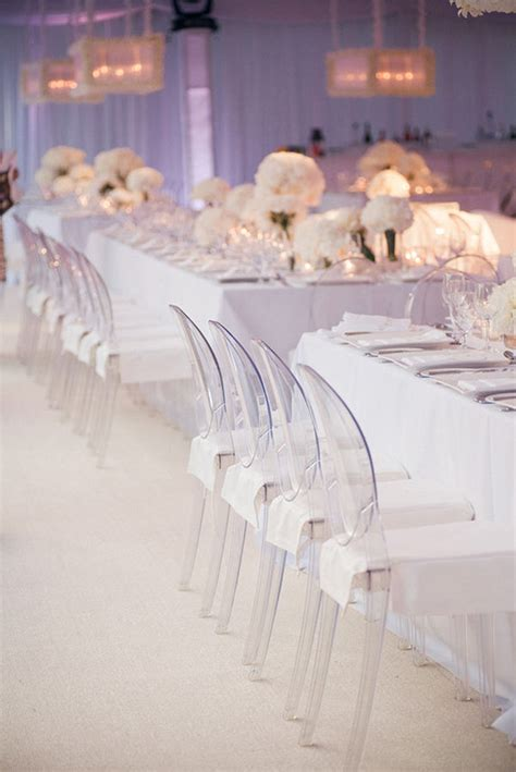 Modern Wedding Chairs all white wedding decor the magazine
