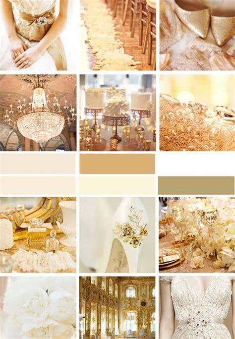 gold wedding colors wedding color palette gold inspired