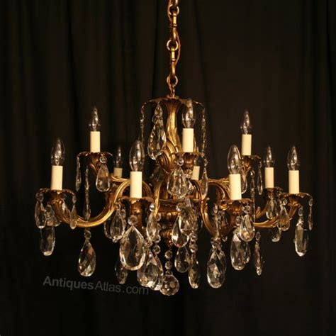 chandelier antique antiques atlas an italian gilded 12 light antique chandelier